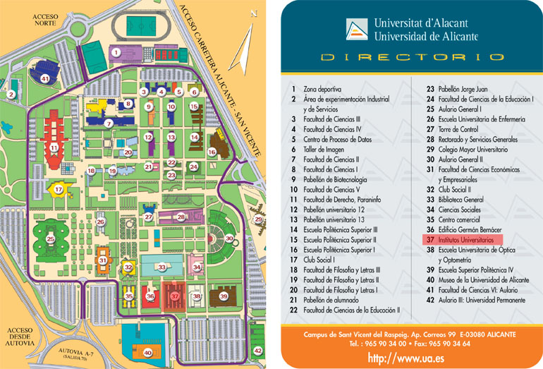mapa campus ua Where we Are. University Institute of the Water and the  mapa campus ua
